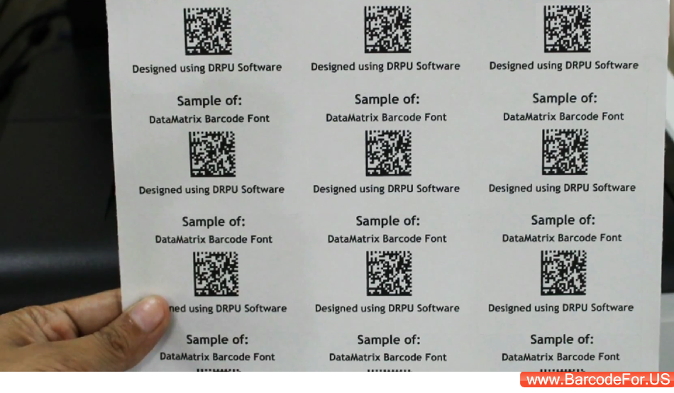 understanding 2d datamatrix barcode  design and print 2d