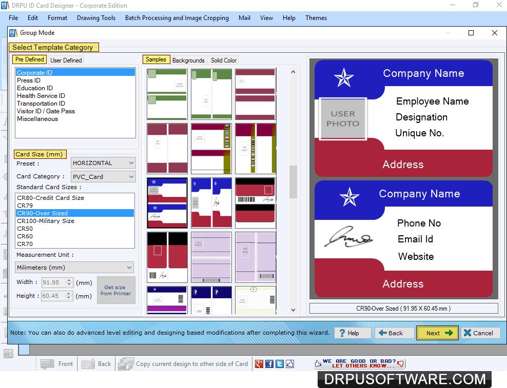 drpu id card maker software